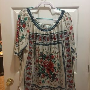 3x women's beautiful floral top